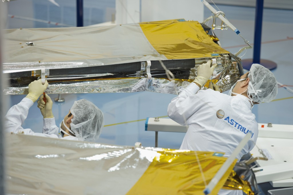 Gaia's sunshield deployment testing