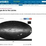 """""""El mapa de la Vía Láctea"""" (El Periódico de Aragón, 15 Sept 2016)"""