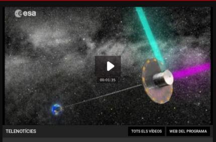 Les dades de la missió Gaia comencen a dibuixar el mapa de la galàxia (Telenotícies migdia, 14 Set 2016)