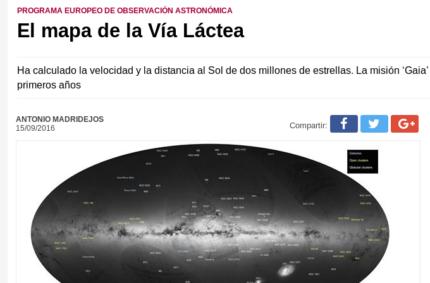 """""""El mapa de la Vía Láctea"""" (Córdoba, 15 Sept 2016)"""
