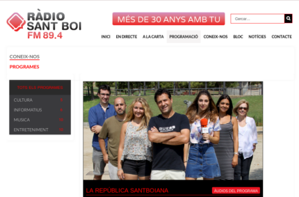"""Vida extraterrestre"" (La república santboiana, Ràdio Sant Boi, 27/Jul/2016)"
