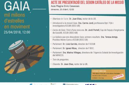 Gaia Second Data Release Event in Barcelona.