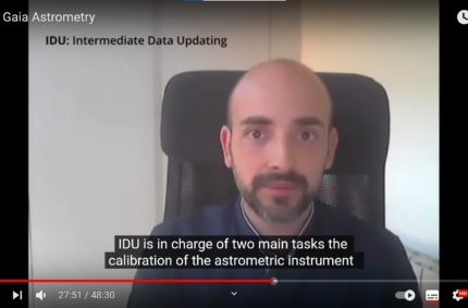 Javier Castañeda explains Gaia IDU @CU3 Meeting